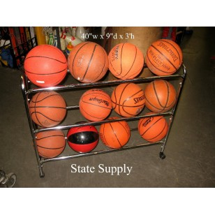 Ball Cart Three Tier Rolling