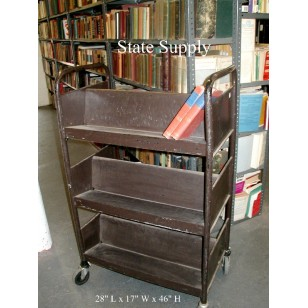 Brown Book Cart
