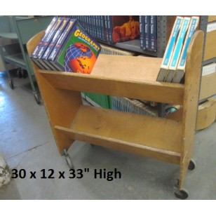 Wood Book Cart