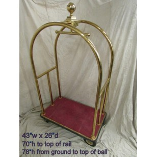 Brass Bellhop Hotel Luggage Cart