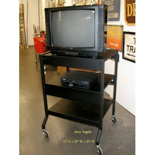 Black Metal AV Cart