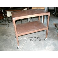 Brown Metal AV Cart