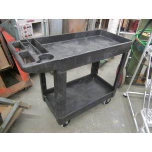 Black Plastic Utility Cart