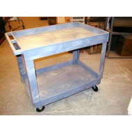 Grey Plastic Utility Cart
