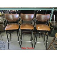 "Bar Stool 30"" high. Brown Vinyl Seat and Back"