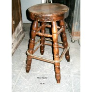 "Bar Stool 30"" high with Brass footrest"