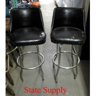 "Bar Stool. Black Vinyl 30"" high"