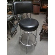 "Diner Stool 30"" high. Black Vinyl Seat & Back"