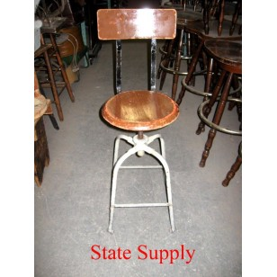 Machinist Stool with Back