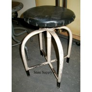 Factory Stool with Black Vinyl Seat
