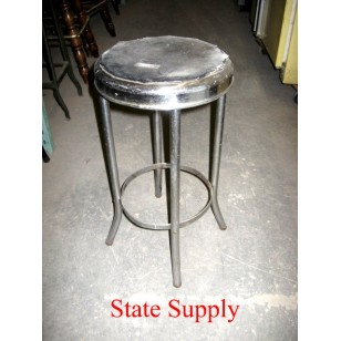 Alum and Metal Stool 24""