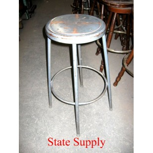 Grey Metal Stool