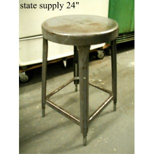 Green Metal Stool 24""