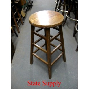 Wood Stool Dark  30""
