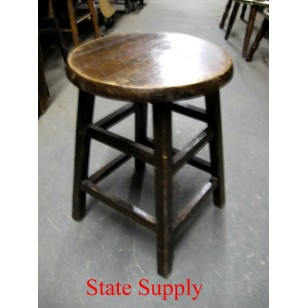 Wood Stool Walnut 24""