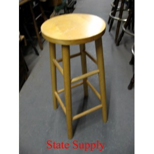 Wood Stool Oak 30""