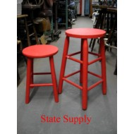 Red Wood Stools