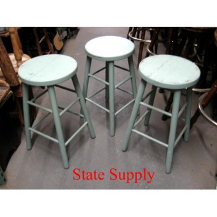 Blue Wood Stools