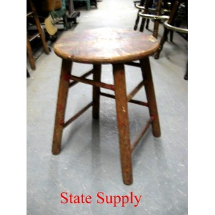 Wood Stool Natural 24""