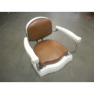 Vintage Child Booster Seat Brown and White Porcelain