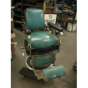 Barber Chair Green & Black