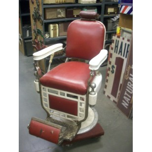 Barber Chair Red & White
