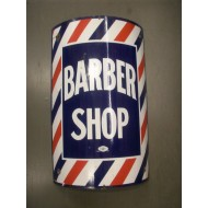 Barber Shop Sign Enamel