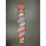 Barber Pole Painted Wood Sign