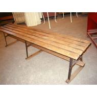 Slatted Wood Locker Room Bench 6u0027