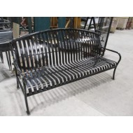 Park Bench Metal with Arms 6'