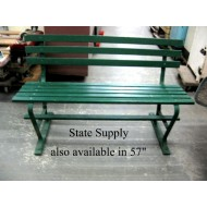 "Park Bench Slatted Green Wood 48"" (4 available)"