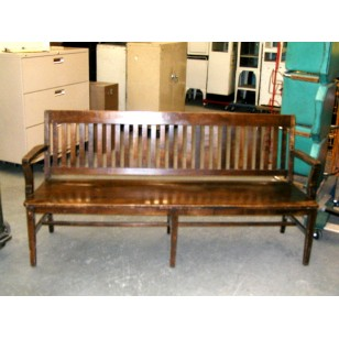 Courtroom Bench Walnut 6'