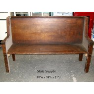Courtroom Bench 63""
