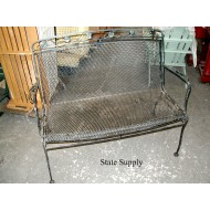 Expanded Metal Bench with Ivy Leaf Pattern 47""