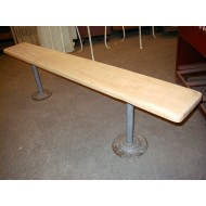 maple top locker room bench 6u0027