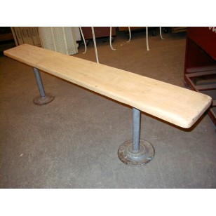 Maple Top Locker Room Bench 6'