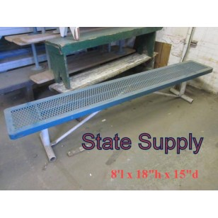 Locker Room Bench Expanded Metal 8'