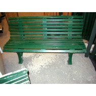 Park Bench 5' Green Plastic