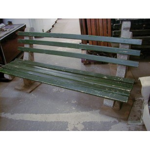 Concrete and Wood Park Bench 6' (4 available)