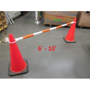 Retractable Traffic Cone Bars Orange/White