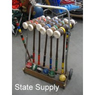 Croquet Set in Stand