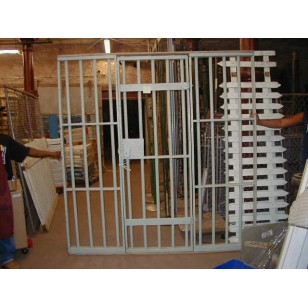 Jail Bars w/door 7x7'