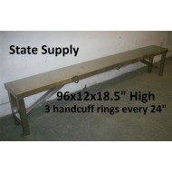 Jail Bench Metal   (1 available)