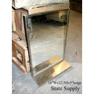 Jail Mirror with Shelf