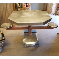 Jail Pedestal Table 4 person (2 available)