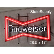 Budweiser Bow Tie Neon Sign