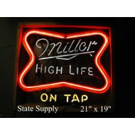 Miller High Life on Tap Neon Sign