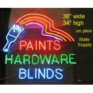 Paints-Hardware-Blinds Neon Sign