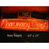 Pharmacy Dept Neon Sign