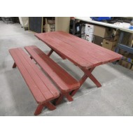 "Picnic Table Redwood ""The Bee"""